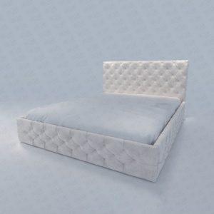 تخت خواب یک نفره تمام لمسه سفید