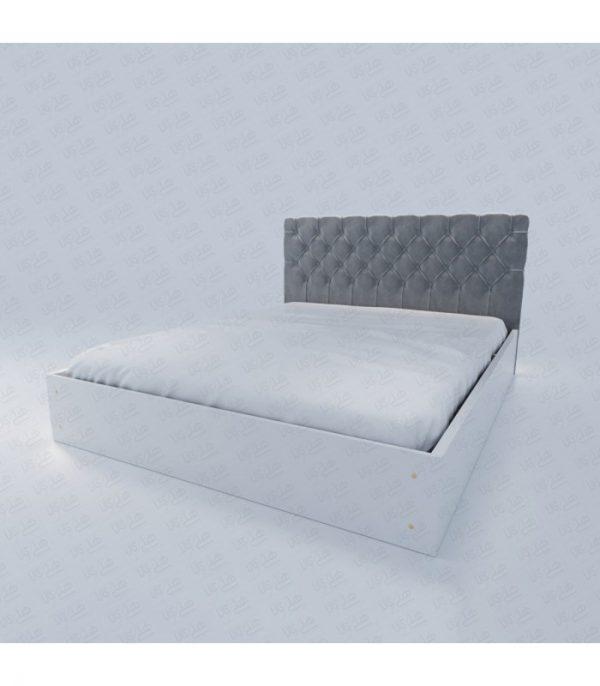 تخت خواب دو نفره هد چستر طوسی